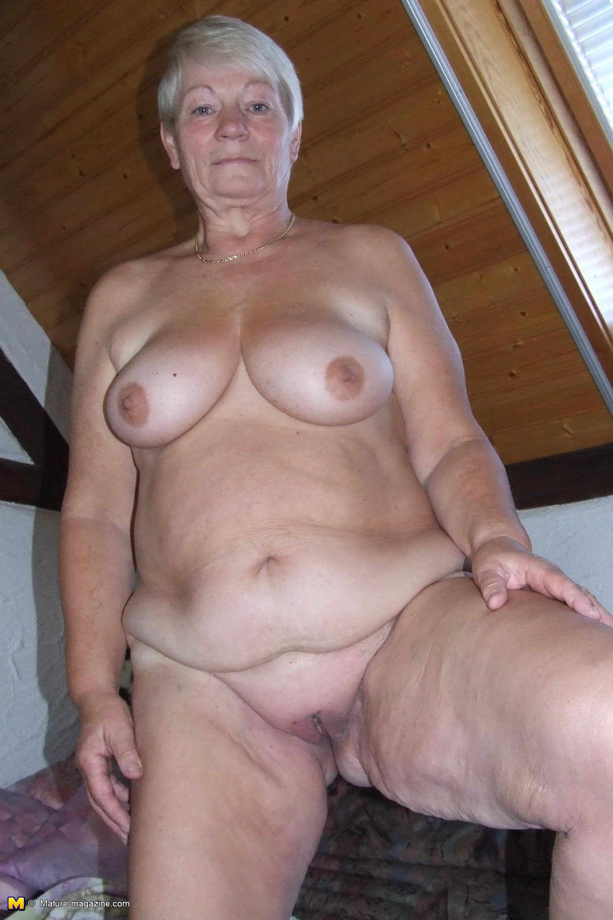 Lady old shaved