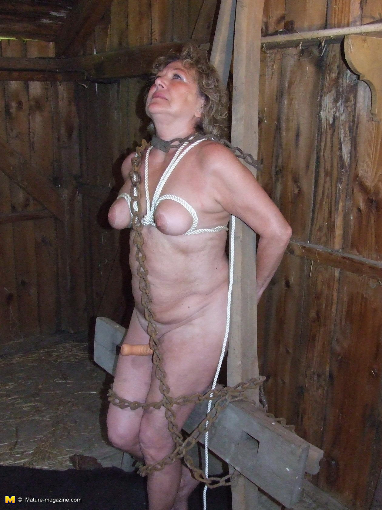 Very matures in bondage photos was there