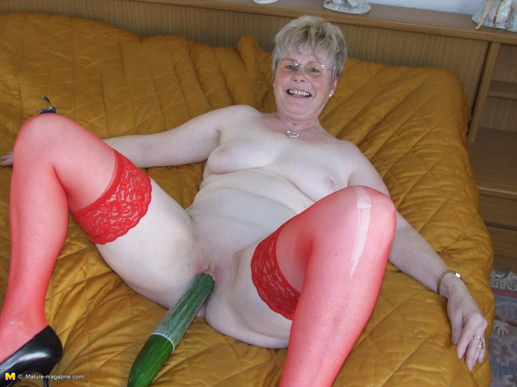 in mature bedroom wife