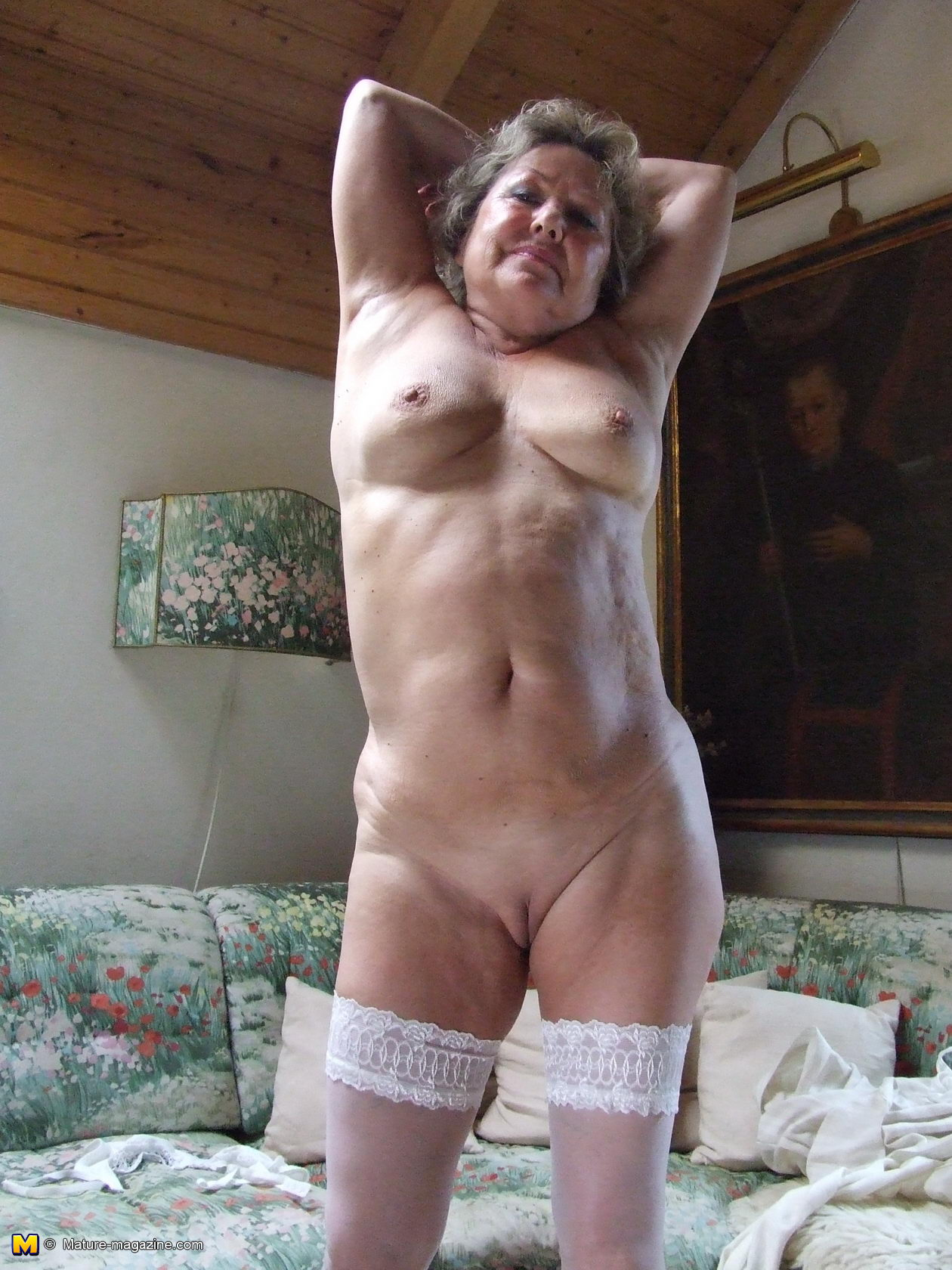 Granny strips old very