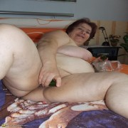 Big titted mature mama getting frisky