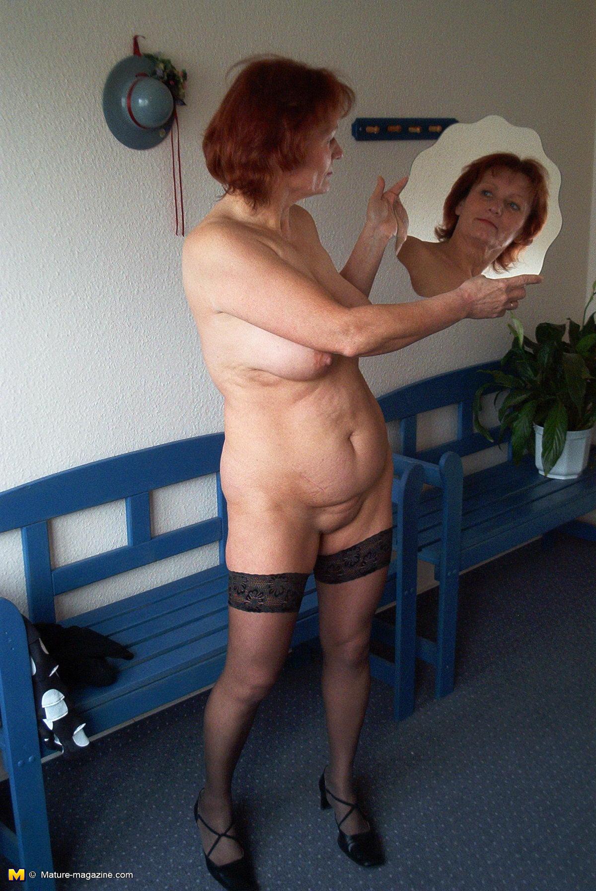 Busty nude mature
