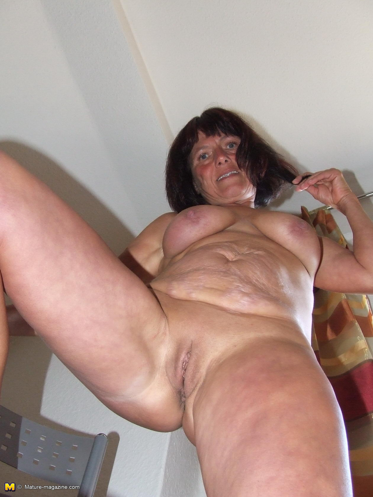Hot mama in black lingerie blows two guys at once and get analed 4