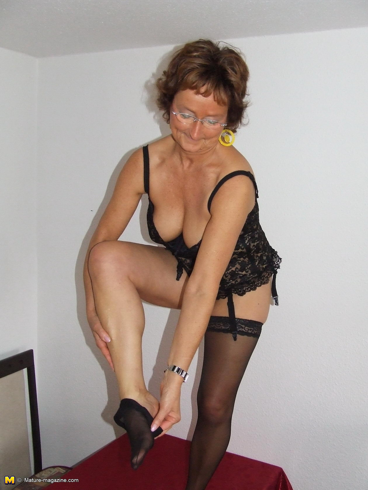 image Granny showing off her old but still hot body