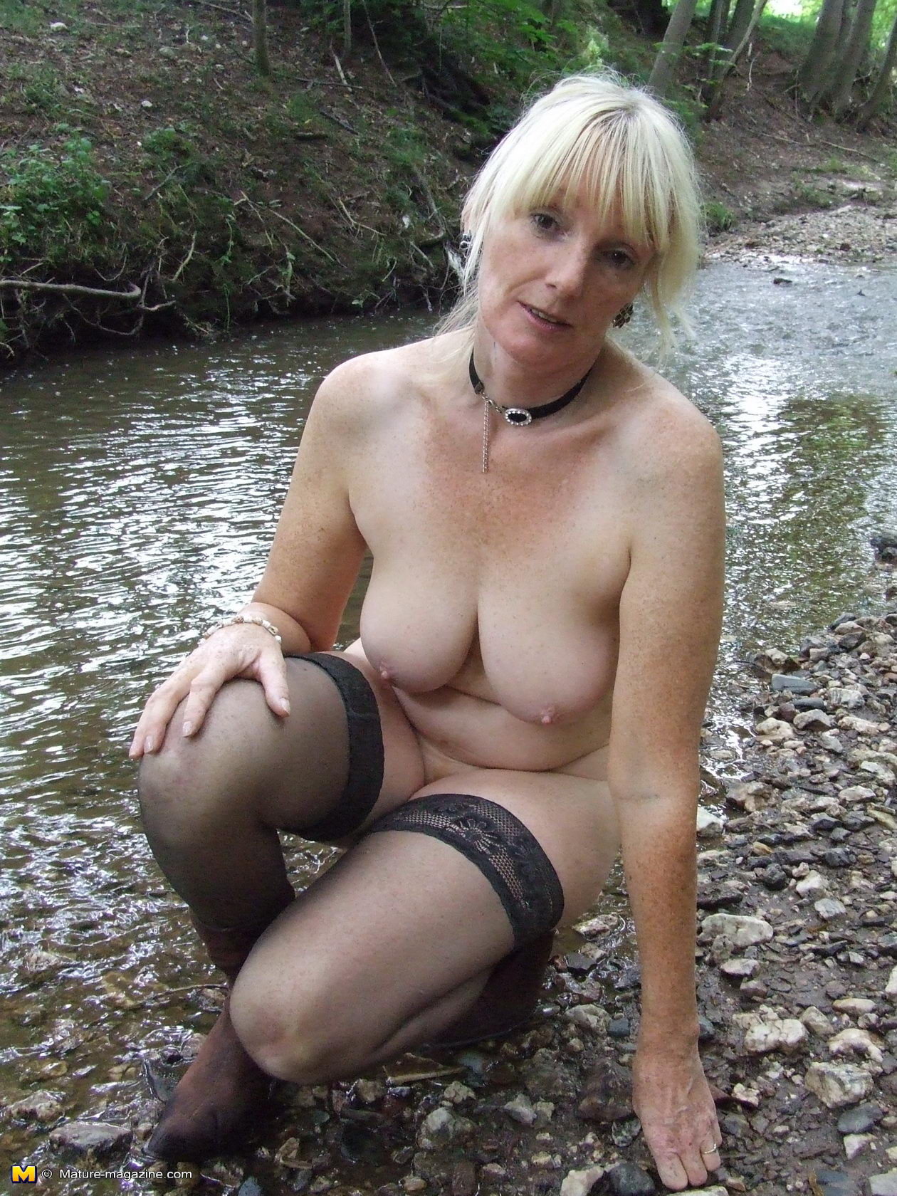Blonde mature nude