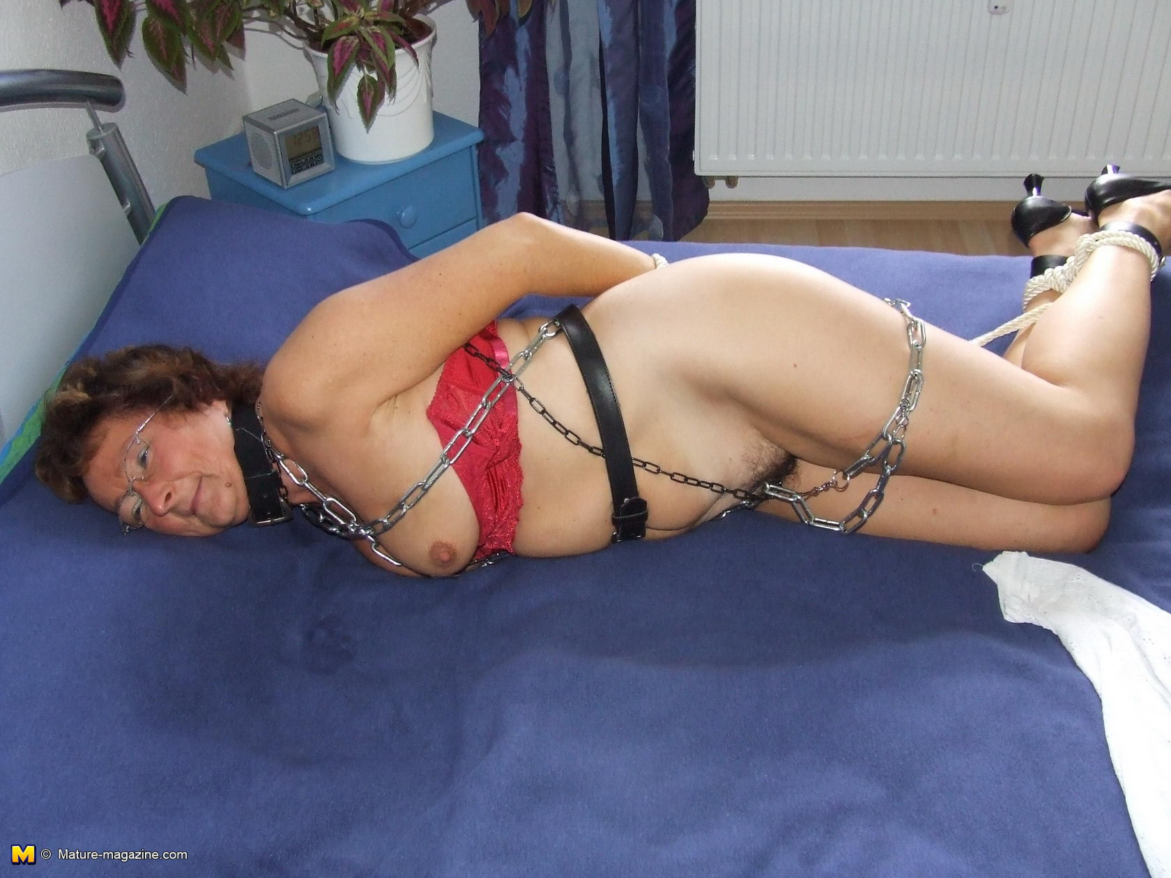Tied up mature porn