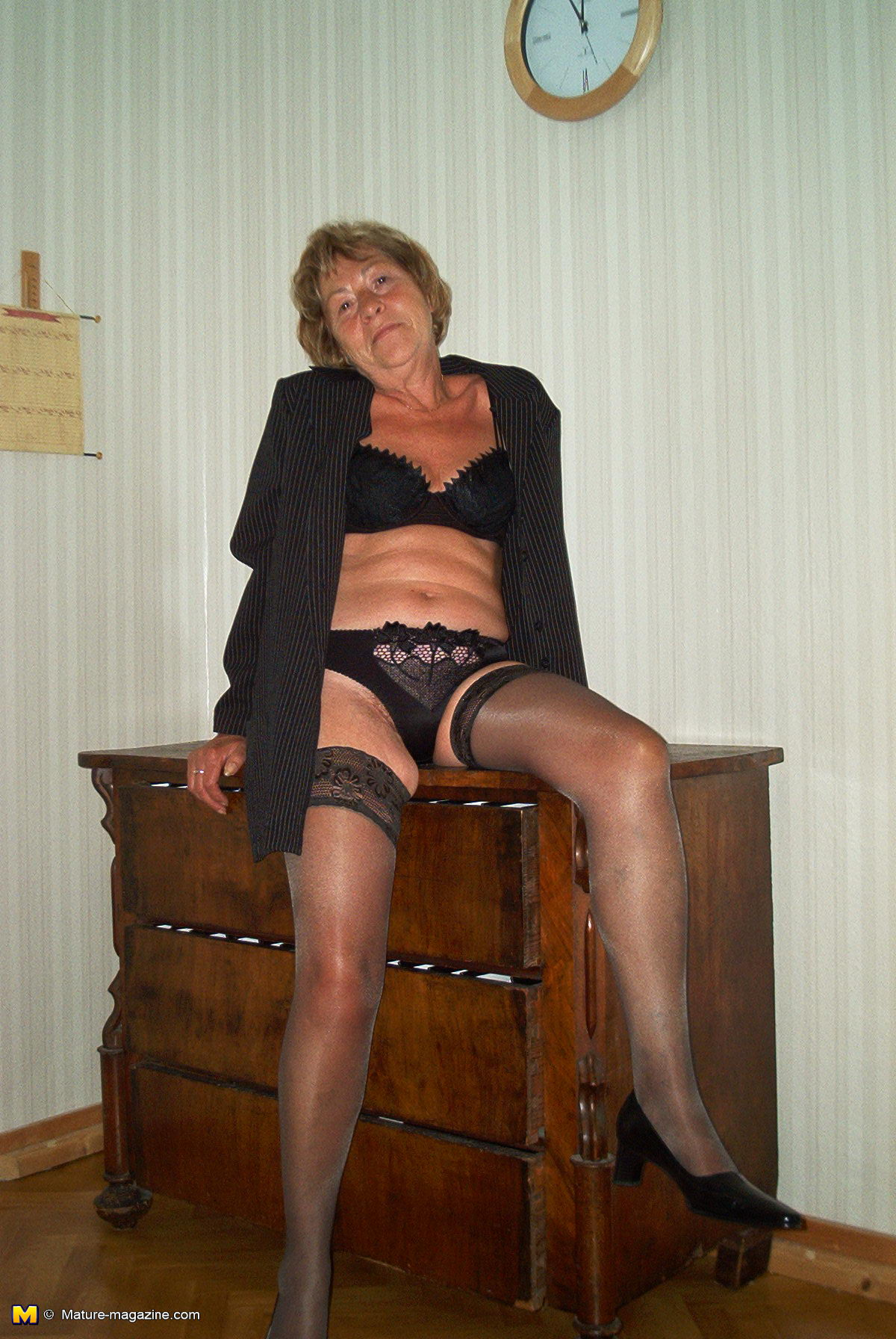 Girl sex granny posing for camera