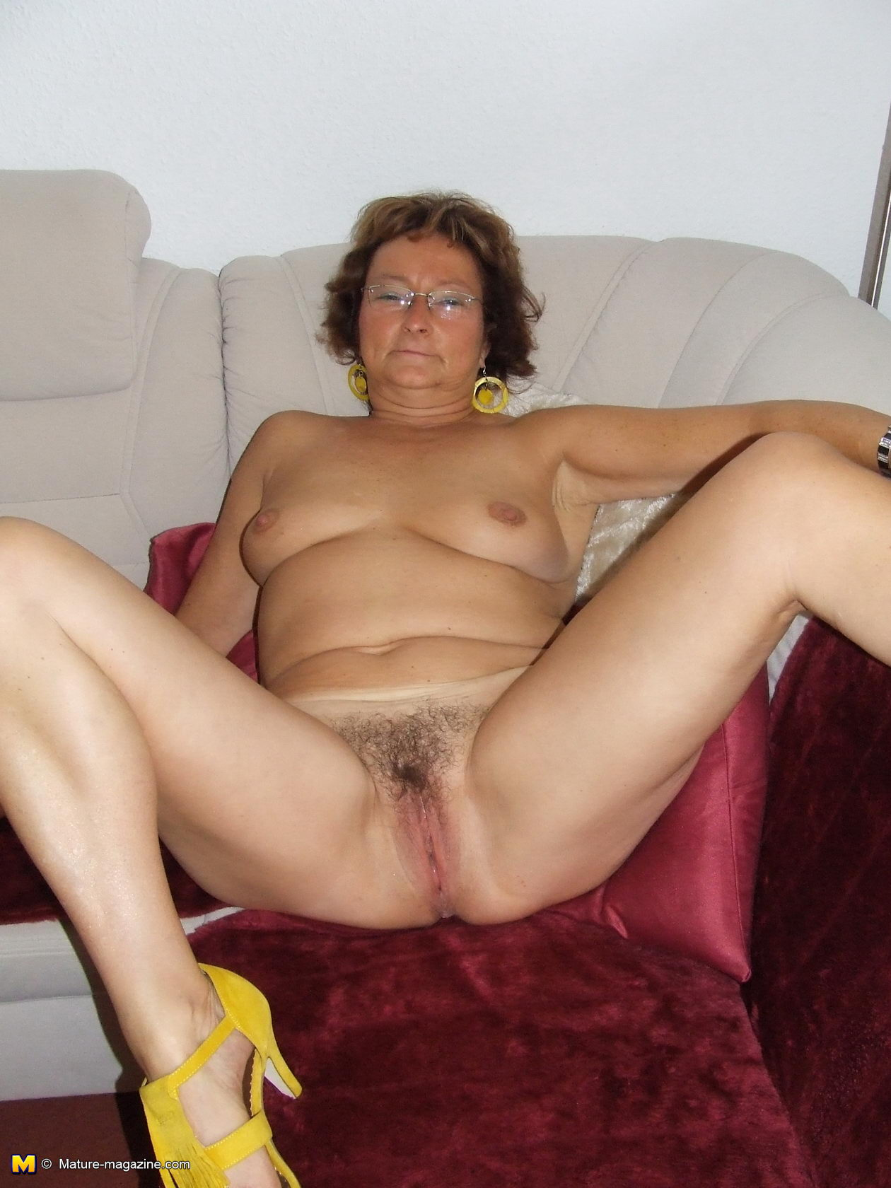 Hairy nude mom any