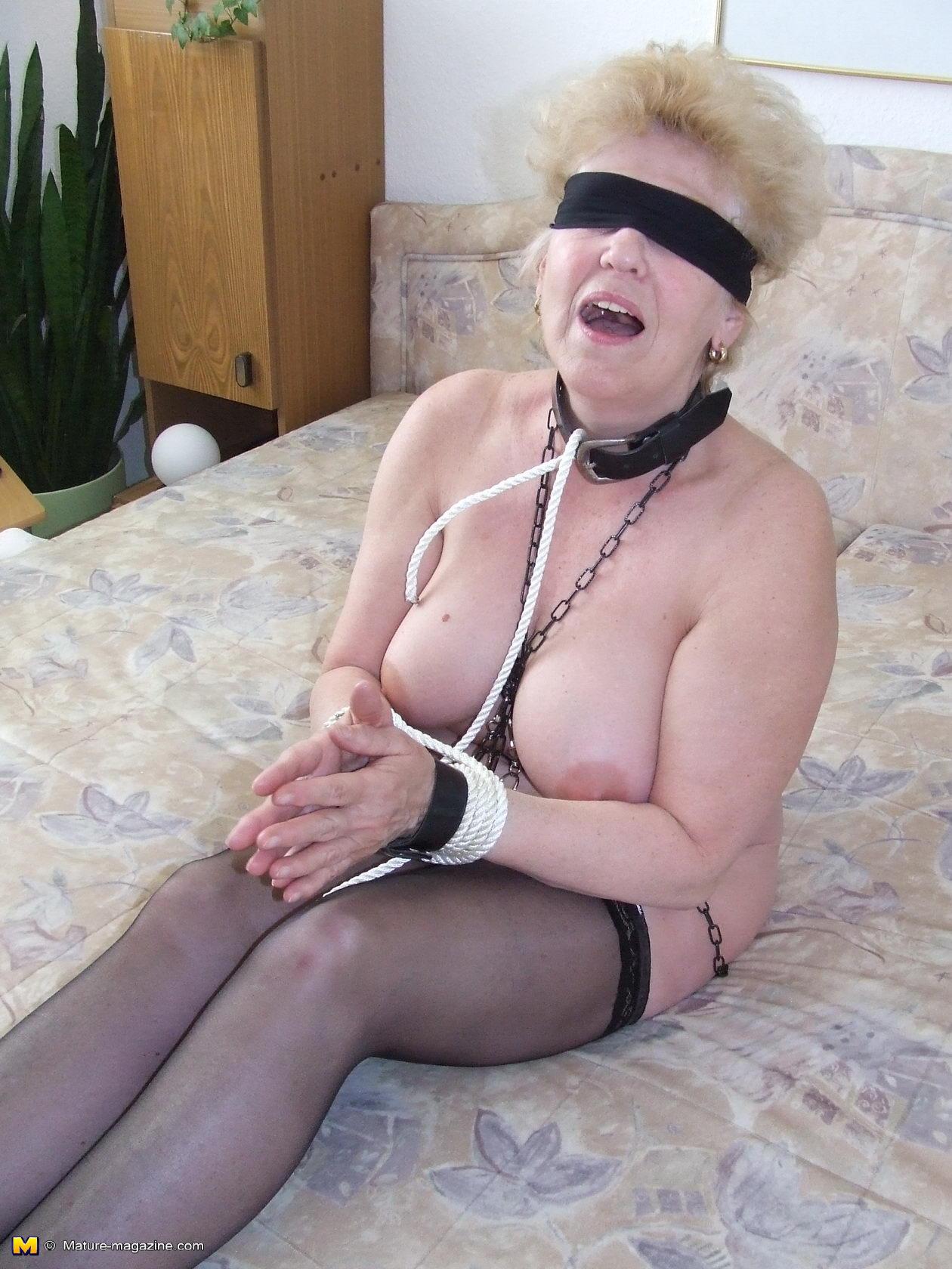 All Granny Porn kinky granny loves to get tied up - grannypornpics